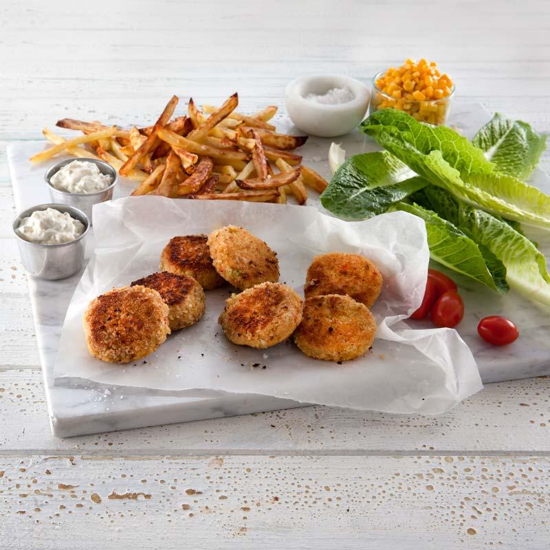 Foto av Crabcakes med pommes frites från WW ViktVäktarna
