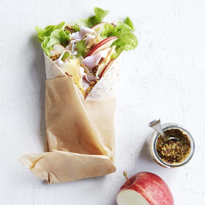 Foto av Wrap med kalkon, äpple och cheddar från WW ViktVäktarna