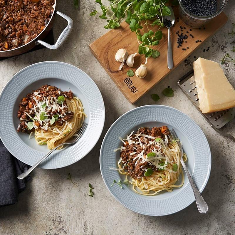 Foto av Pasta bolognese med aubergine och linser från WW ViktVäktarna