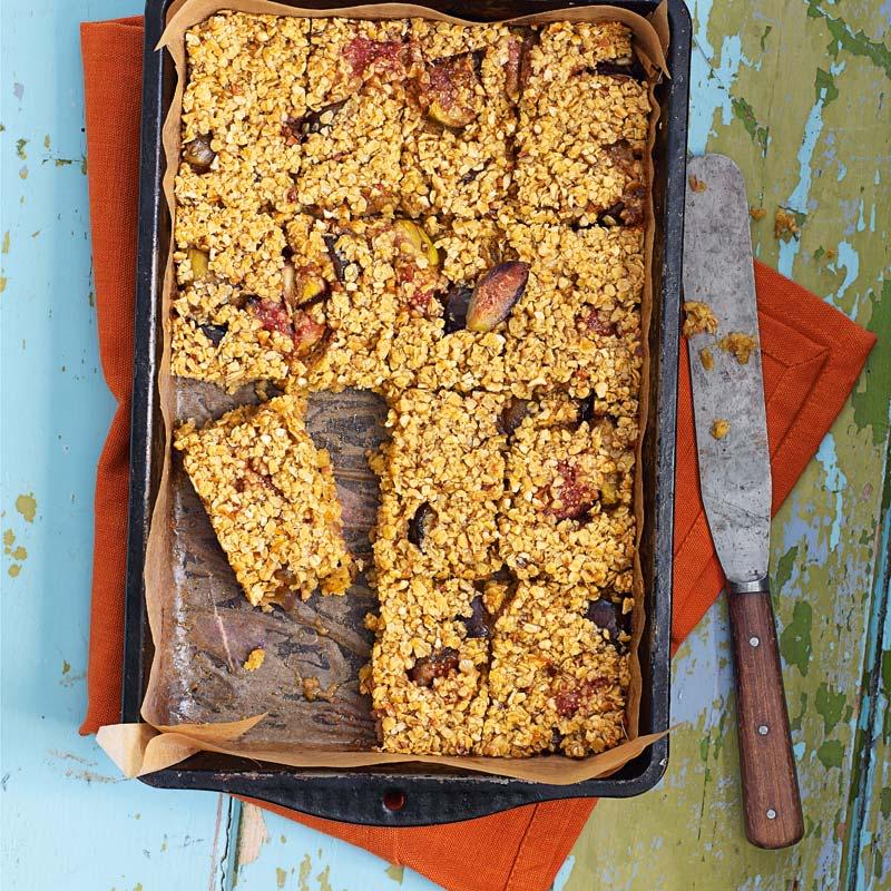 Foto av Flapjacks med fikon och hasselnötter från WW ViktVäktarna