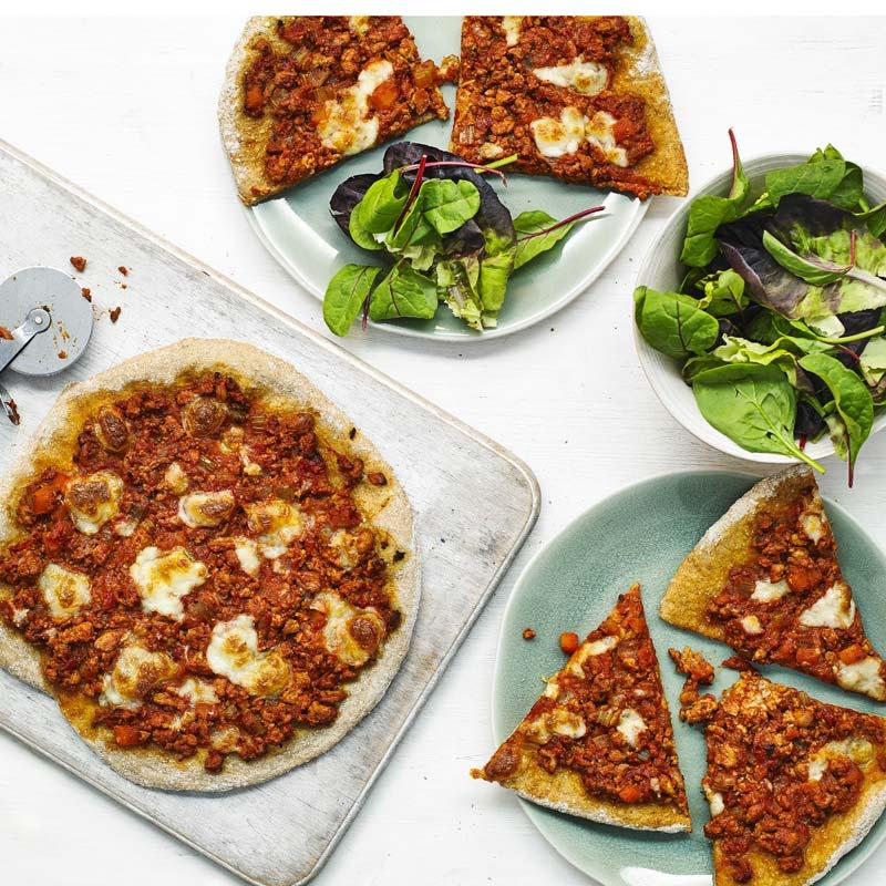 Foto av Sloppy Joe-pizza från WW ViktVäktarna