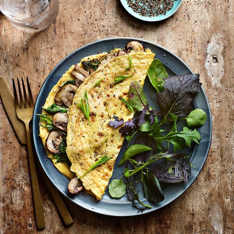 Foto av Omelett med svamp och spenat från WW ViktVäktarna