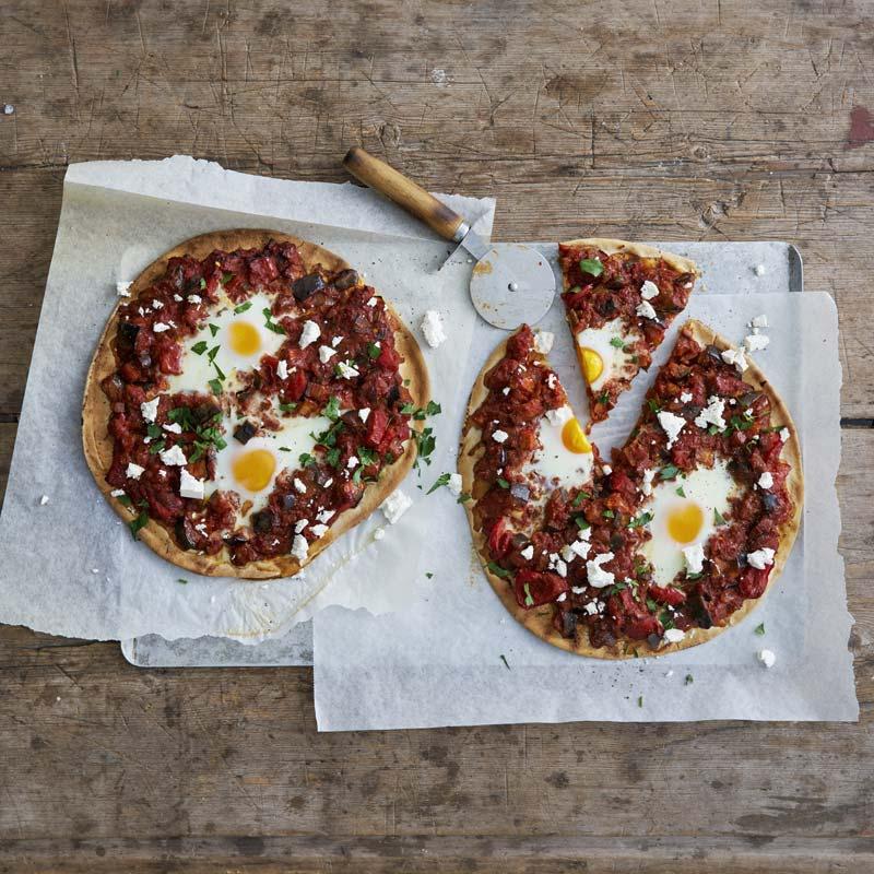 Foto av Shakshukapizza på libabröd från WW ViktVäktarna