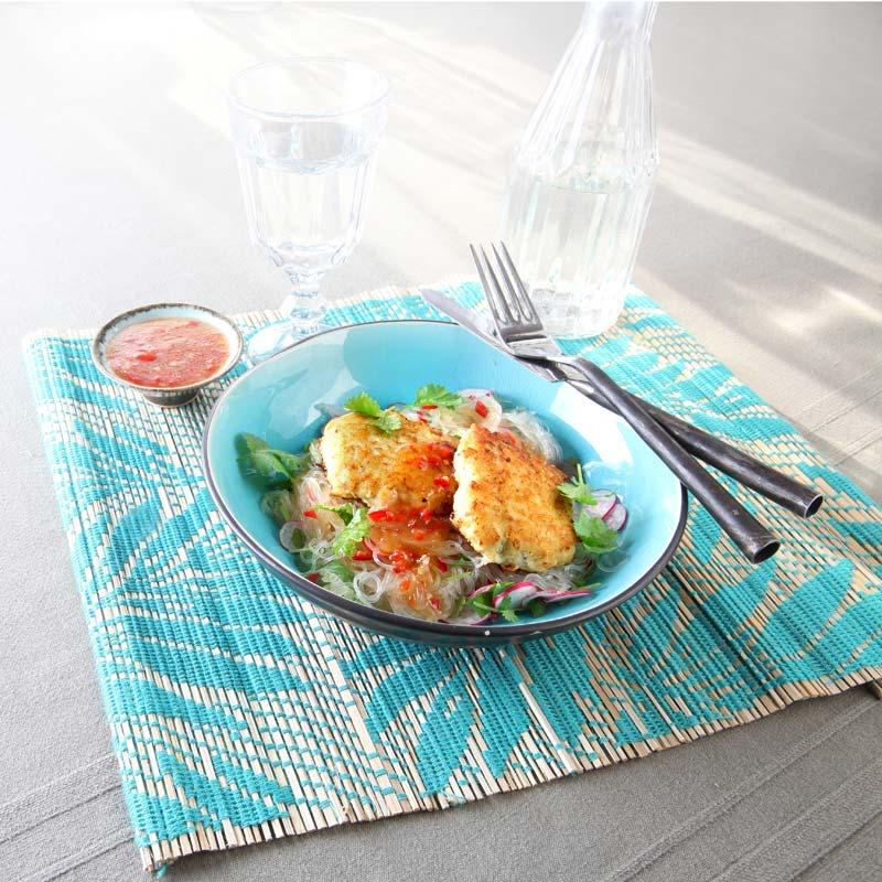 Foto av Asiatiska fishcakes med nudlar och sweet chilisås från WW ViktVäktarna
