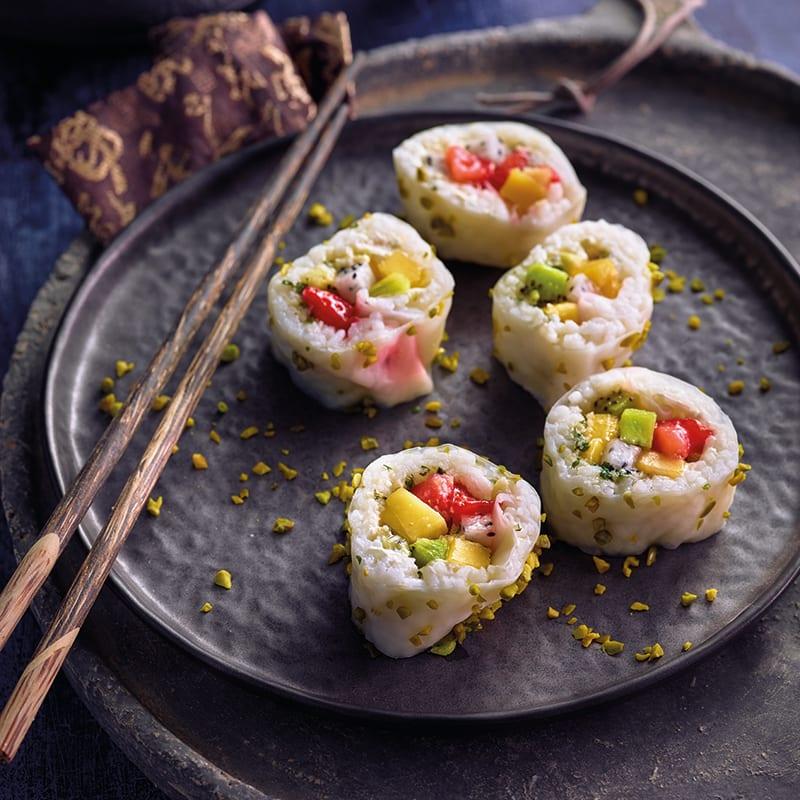 Foto av Sushi med vanilj, frukt och mandelpesto från WW ViktVäktarna