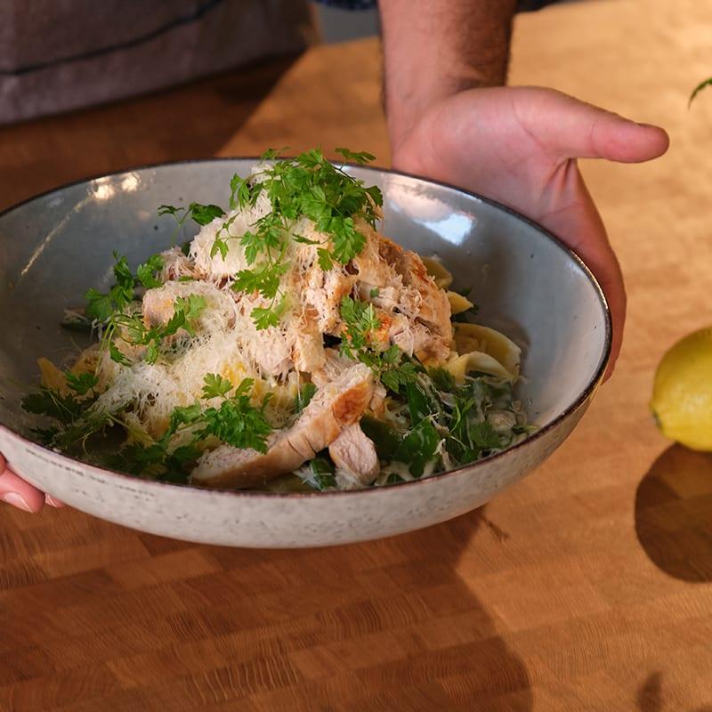 Foto av Amirs pasta Alfredo med kyckling från WW ViktVäktarna