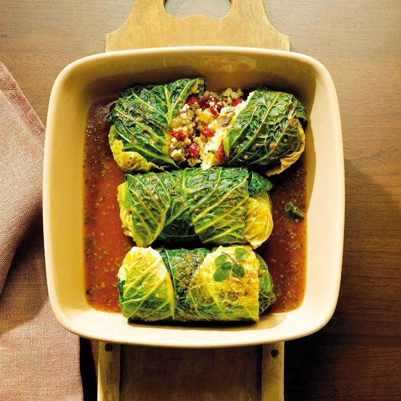 Foto av Savoykålsrulader med svamp och couscous från WW ViktVäktarna
