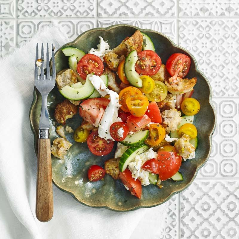 Foto av Panzanella med mozzarella och tomat från WW ViktVäktarna