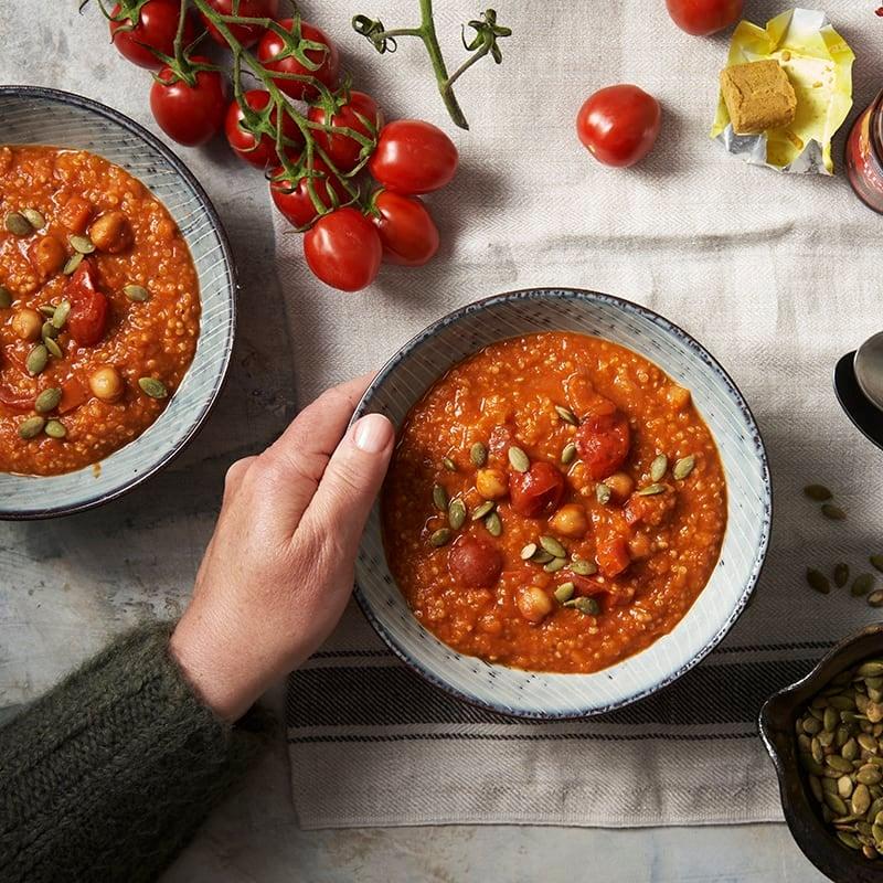 Foto av Tomatsoppa med quinoa och pumpakärnor från WW ViktVäktarna