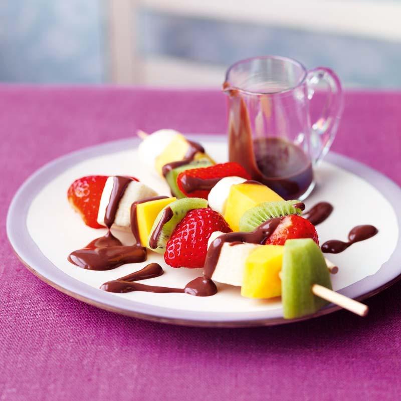Foto av Fruktspett med varm chokladsås från WW ViktVäktarna