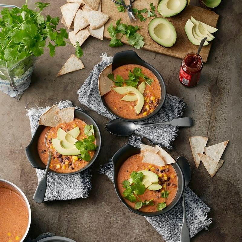 Foto av Tortillasoppa med bönor och avokado från WW ViktVäktarna