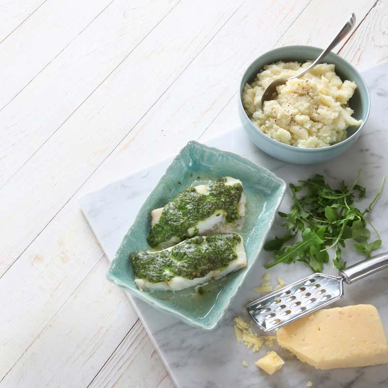 Foto av Torsk med ost- och ruccolatäcke från WW ViktVäktarna