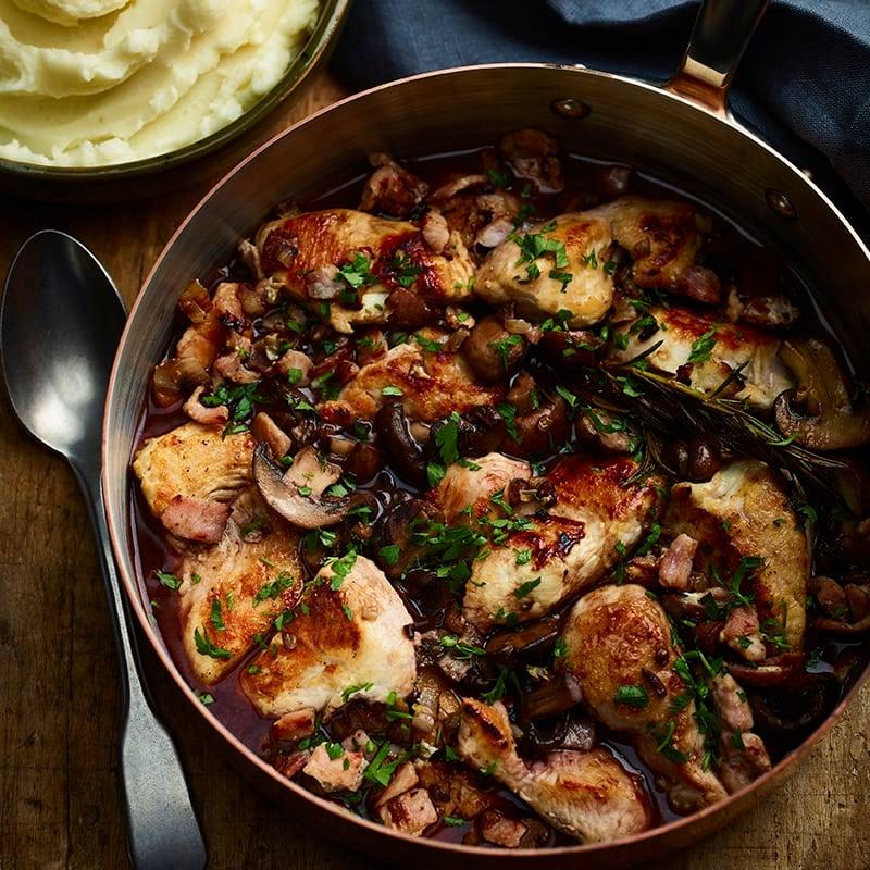 Foto av Coq au vin med potatismos från WW ViktVäktarna