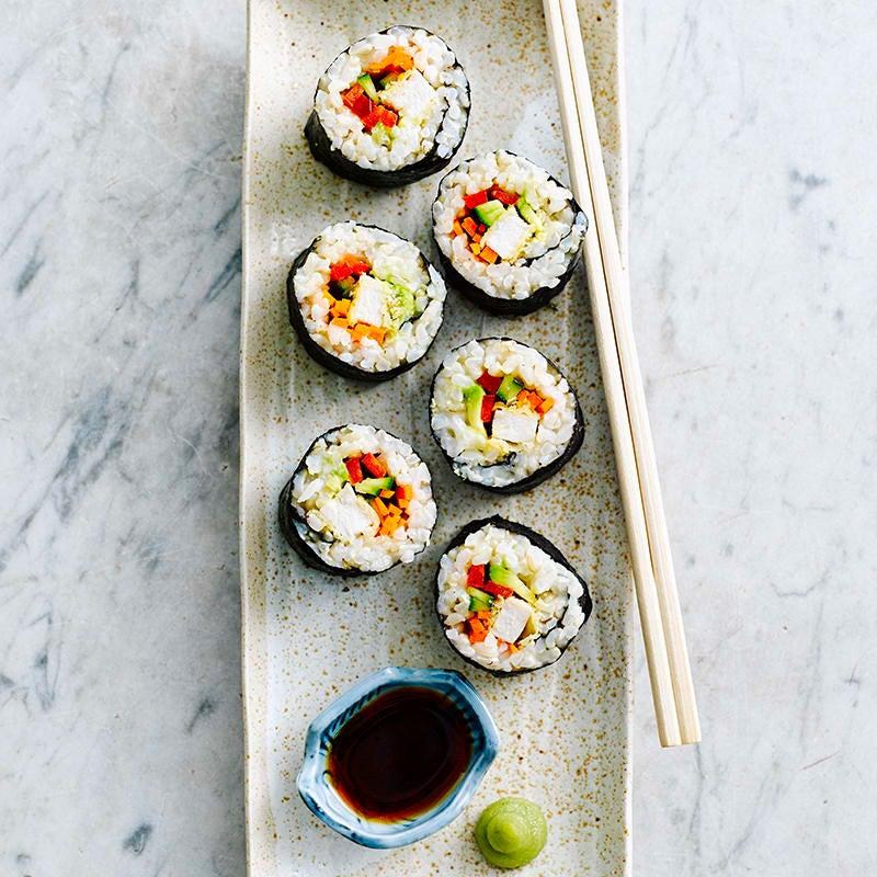 Foto av Sushi makirullar med krispig kyckling från WW ViktVäktarna