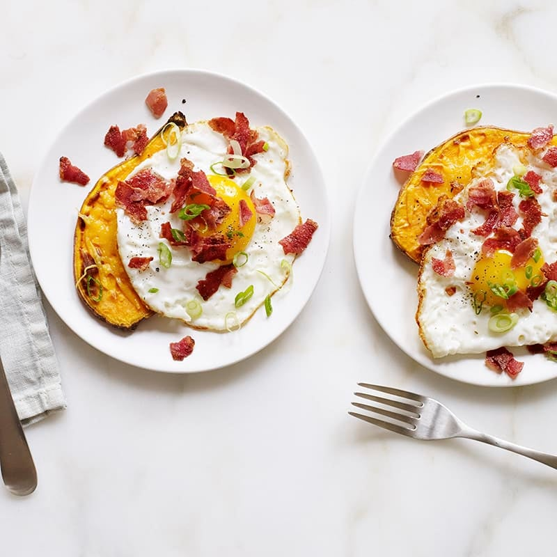 Foto av Sötpotatistoast med ägg och bacon från WW ViktVäktarna