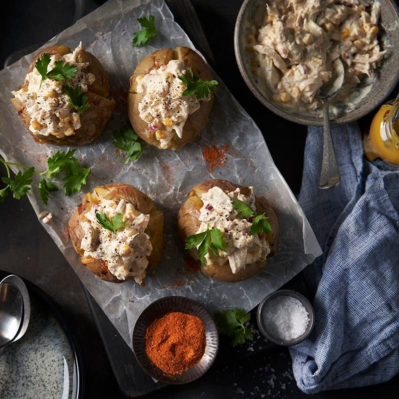 Foto av Bakad potatis med kyckling- och majsröra från WW ViktVäktarna
