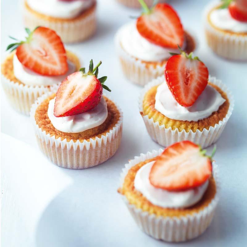 Foto av Cupcakes med jordgubbar från WW ViktVäktarna