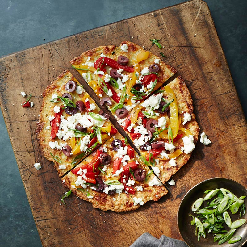 Foto av Blomkålspizza med salladsost, paprika och oliver från WW ViktVäktarna