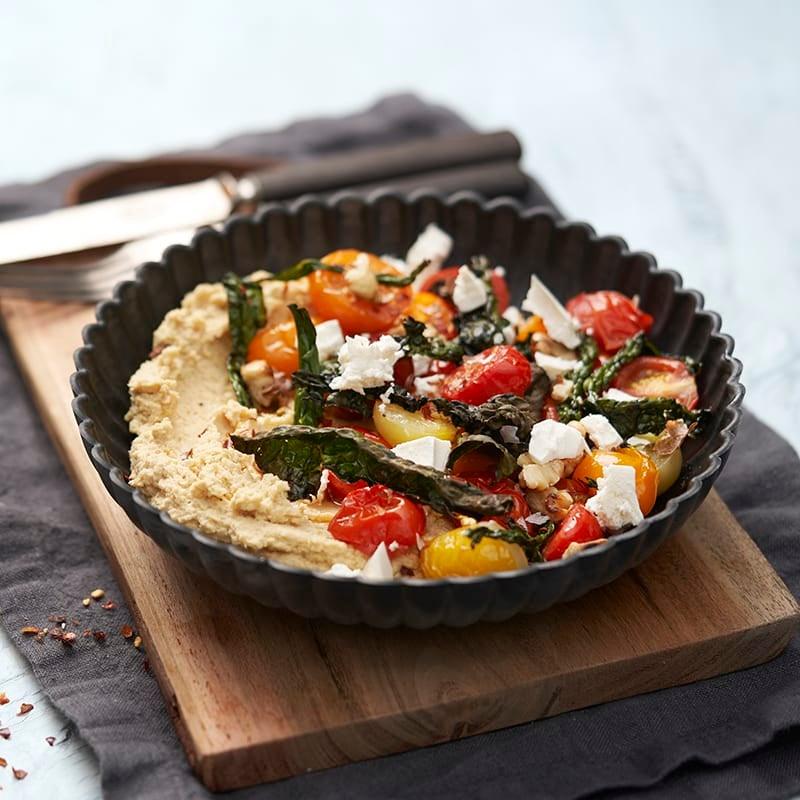 Foto av Hummusbowl med rostade tomater och svartkålschips från WW ViktVäktarna
