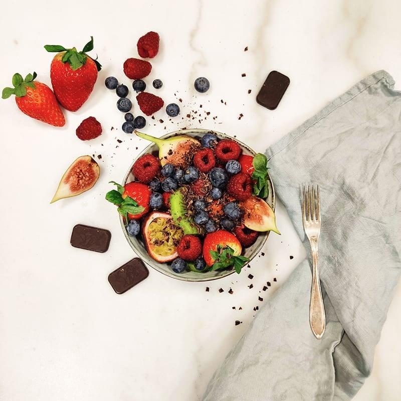 Foto av Fruktsallad med choklad från WW ViktVäktarna