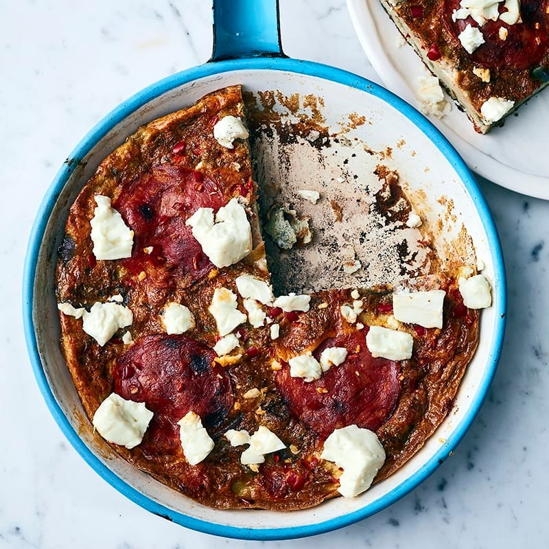 Foto av Omelett med chorizo och salladsost från WW ViktVäktarna