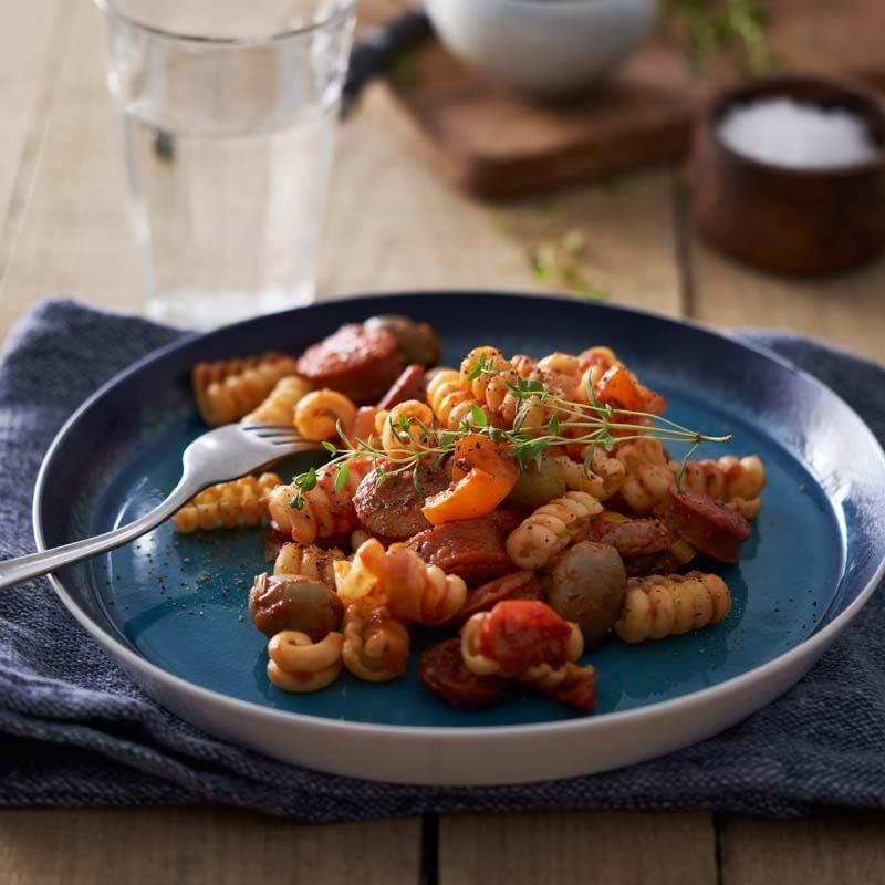 Foto av Pasta med korv i tomat- och olivsås från WW ViktVäktarna
