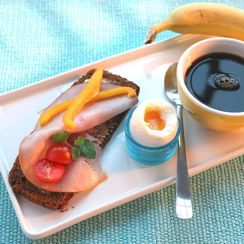 Foto av Rågbröd med skinka och kokt ägg från WW ViktVäktarna