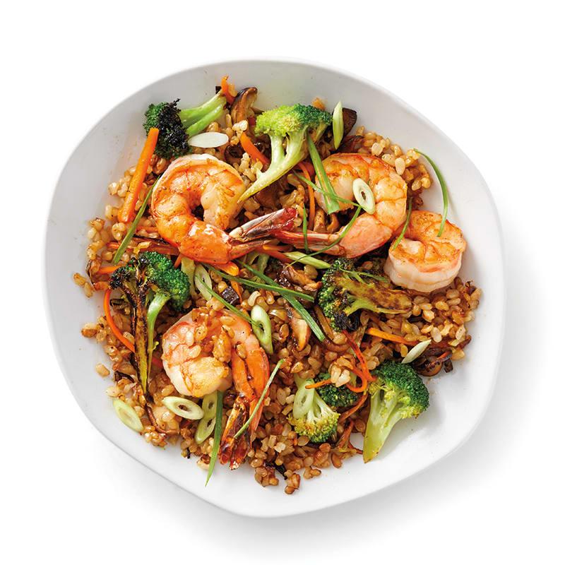 Foto av Fried rice med räkor och broccoli från WW ViktVäktarna