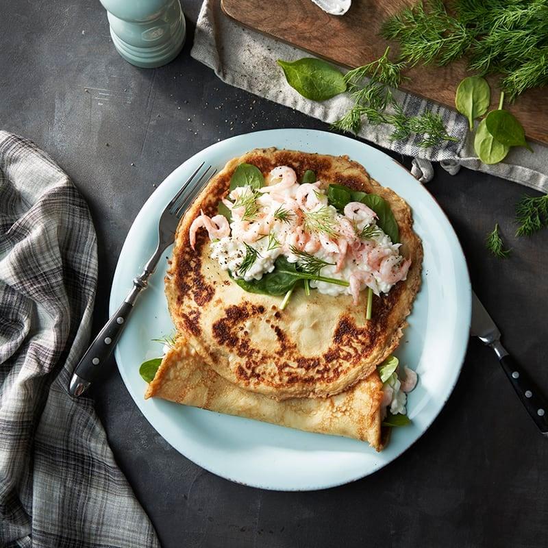 Foto av Fyllda pannkakor med räkor och cottage cheese från WW ViktVäktarna