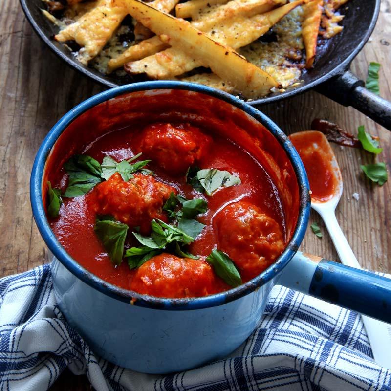 Foto av Kycklingfrikadeller i tomatsås från WW ViktVäktarna