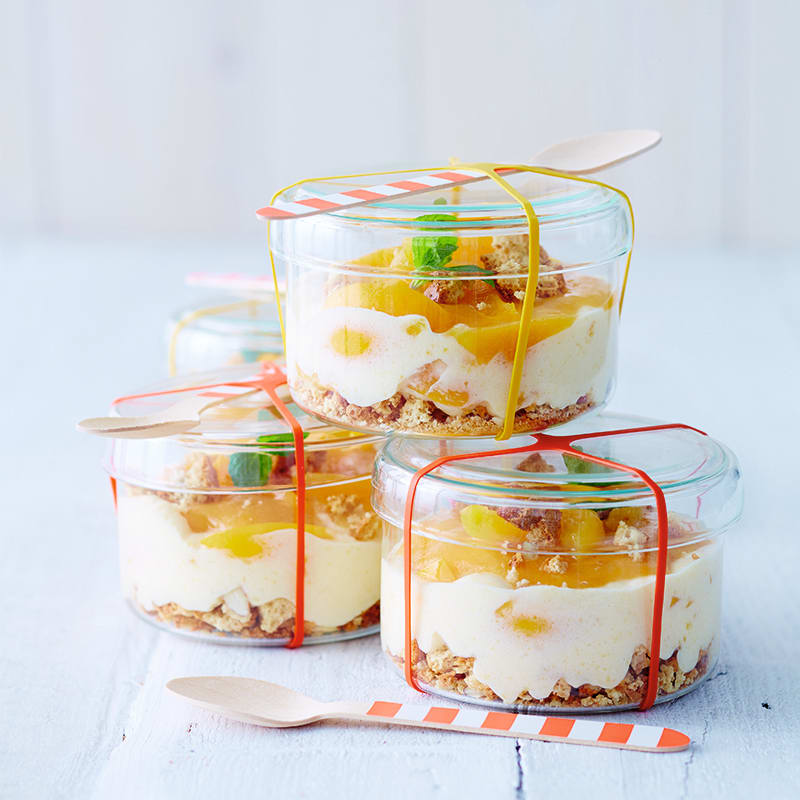 Foto av Cheesecake i glas med aprikos från WW ViktVäktarna