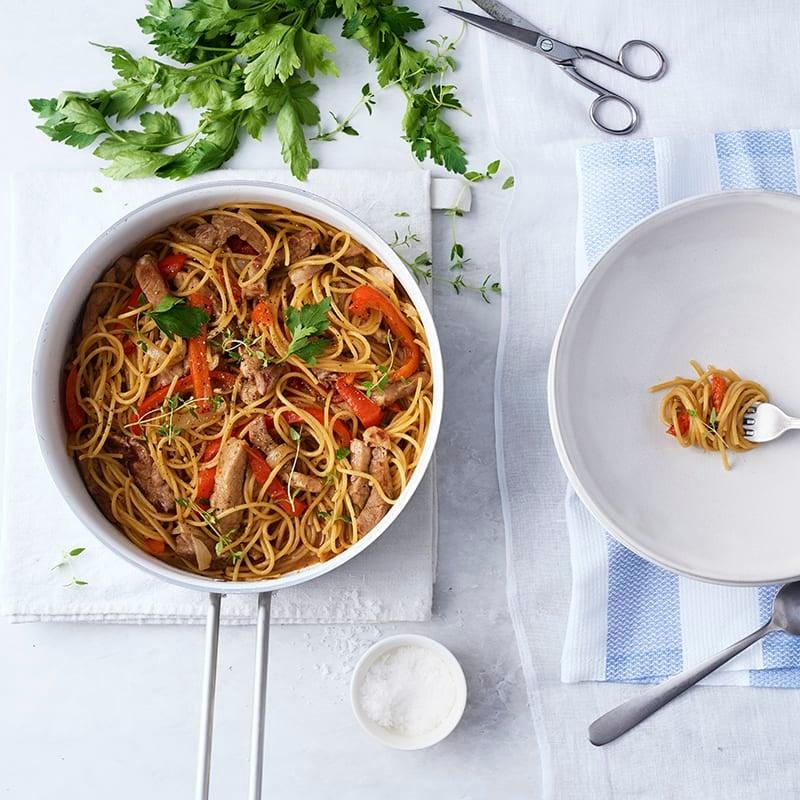Foto av Kryddig pasta- och fläskfilégryta från WW ViktVäktarna