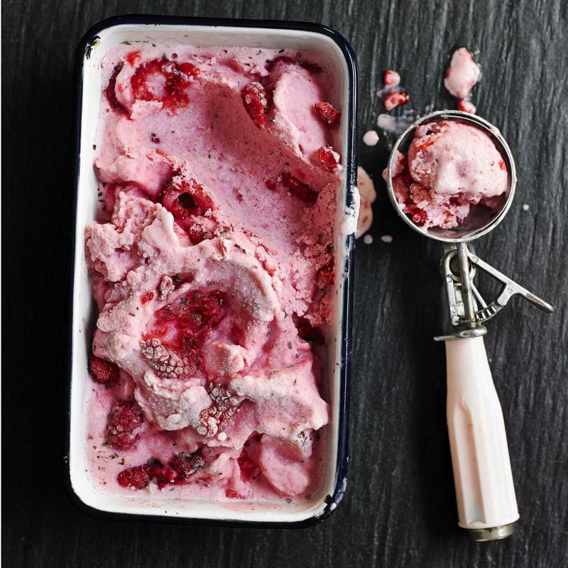 Foto av Frozen yoghurt med hallon från WW ViktVäktarna