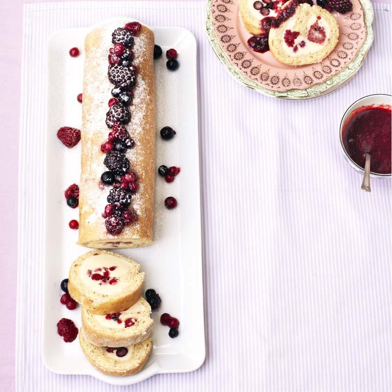 Foto av Rulltårta med bär och glass från WW ViktVäktarna