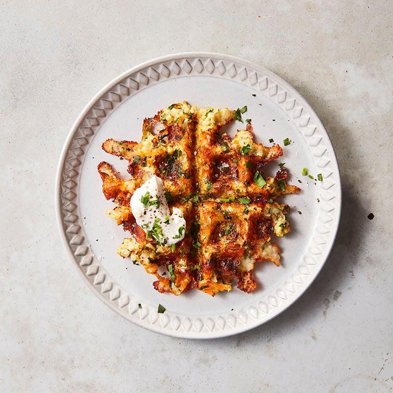 Foto av Blomkålsvåfflor med mozzarella från WW ViktVäktarna