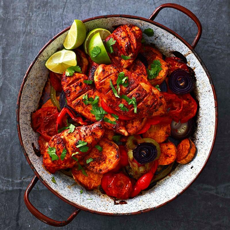 Foto av Marinerad kyckling med sötpotatis och grönsaker från WW ViktVäktarna