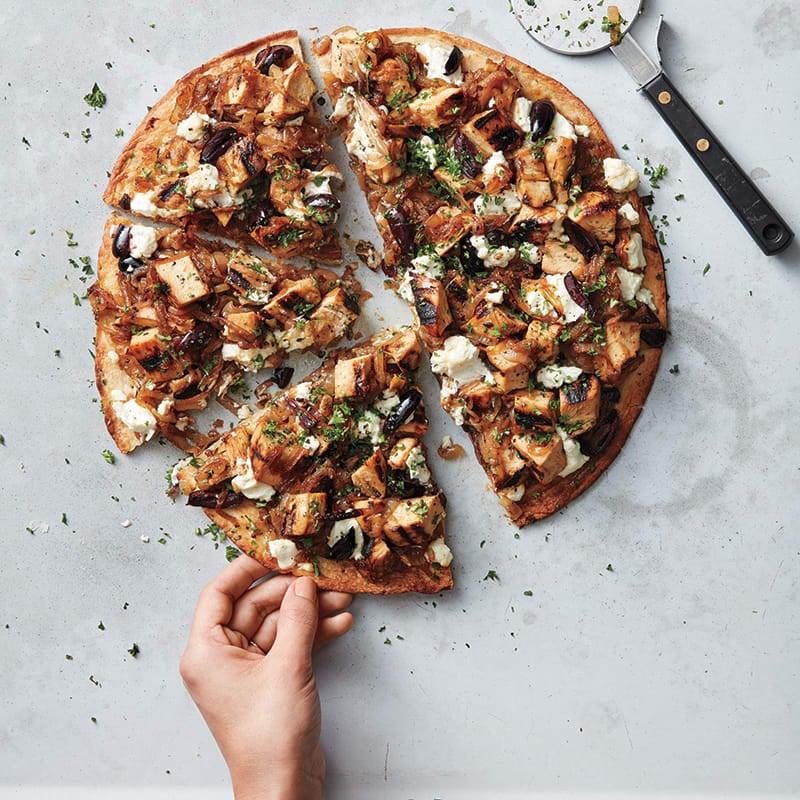 Foto av Kycklingpizza med karamelliserad lök och getost från WW ViktVäktarna