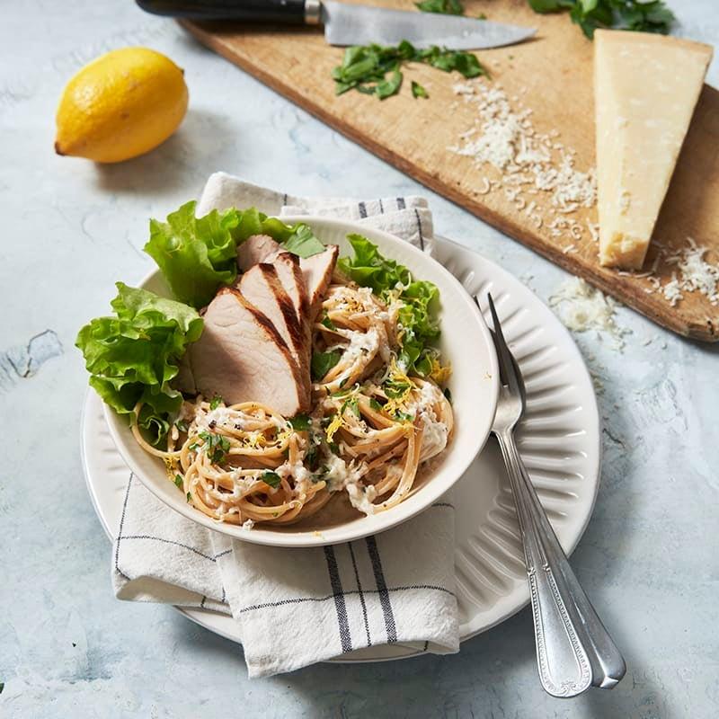 Foto av Citronfilé i ugn med parmesanspaghetti från WW ViktVäktarna