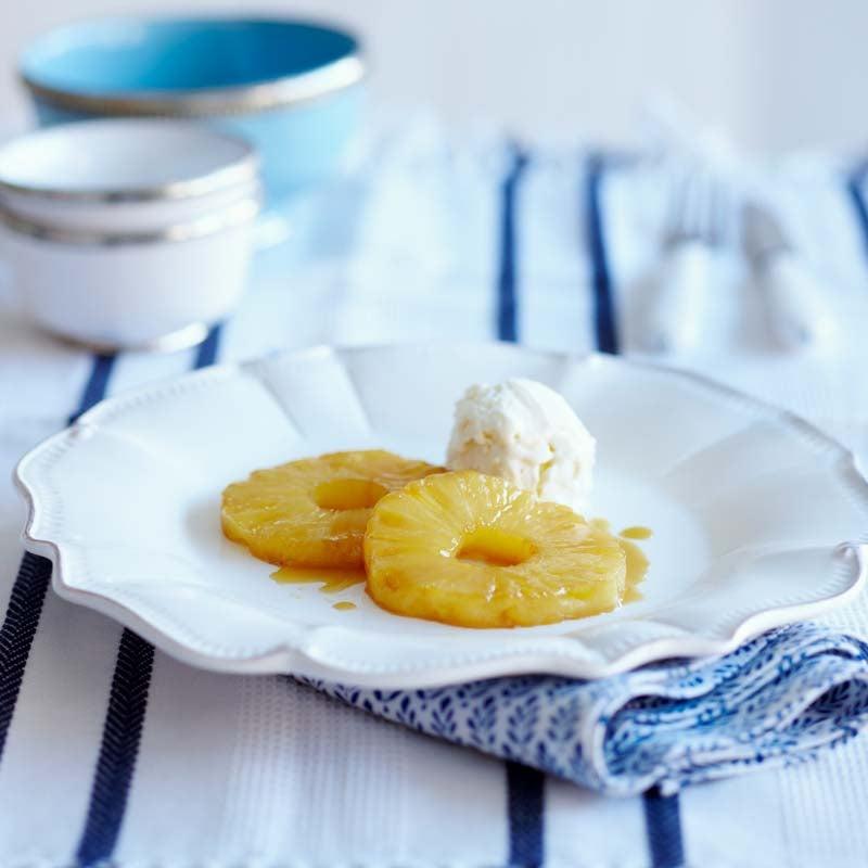 Foto av Stekt ananas med rom och glass från WW ViktVäktarna