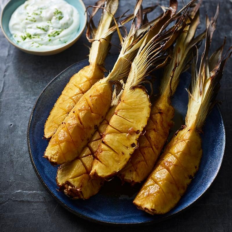 Foto av Karamelliserad ananas med rom från WW ViktVäktarna