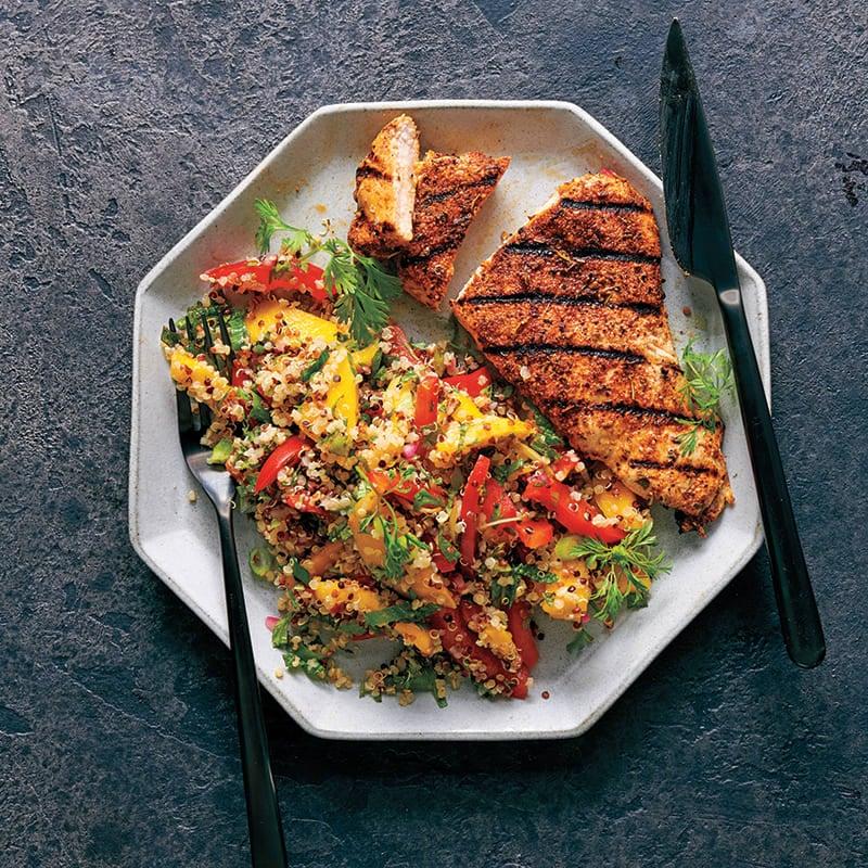 Foto av Jerk chicken med quinoa- och myntasallad från WW ViktVäktarna