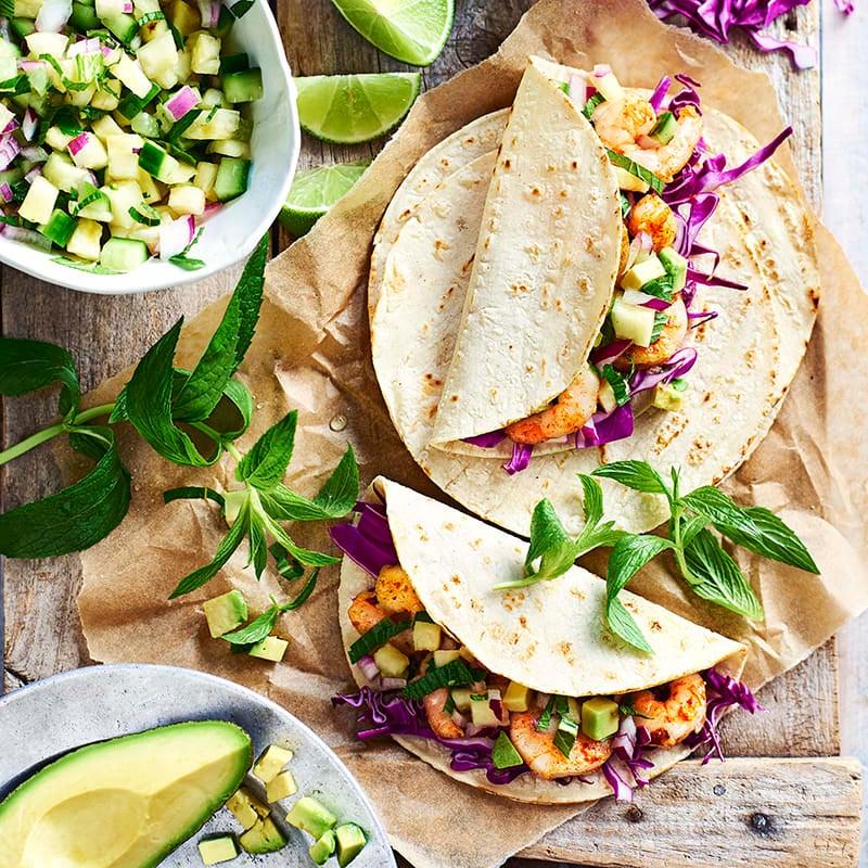 Foto av Tacos med räkor och ananassalsa från WW ViktVäktarna