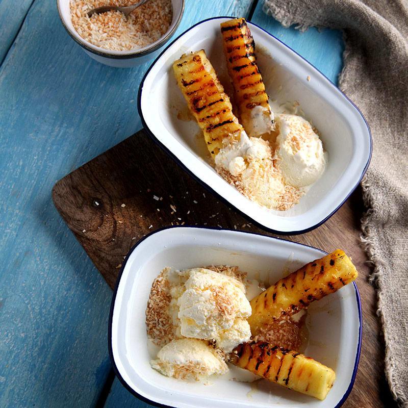 Foto av Grillad ananas med frozen yoghurt från WW ViktVäktarna