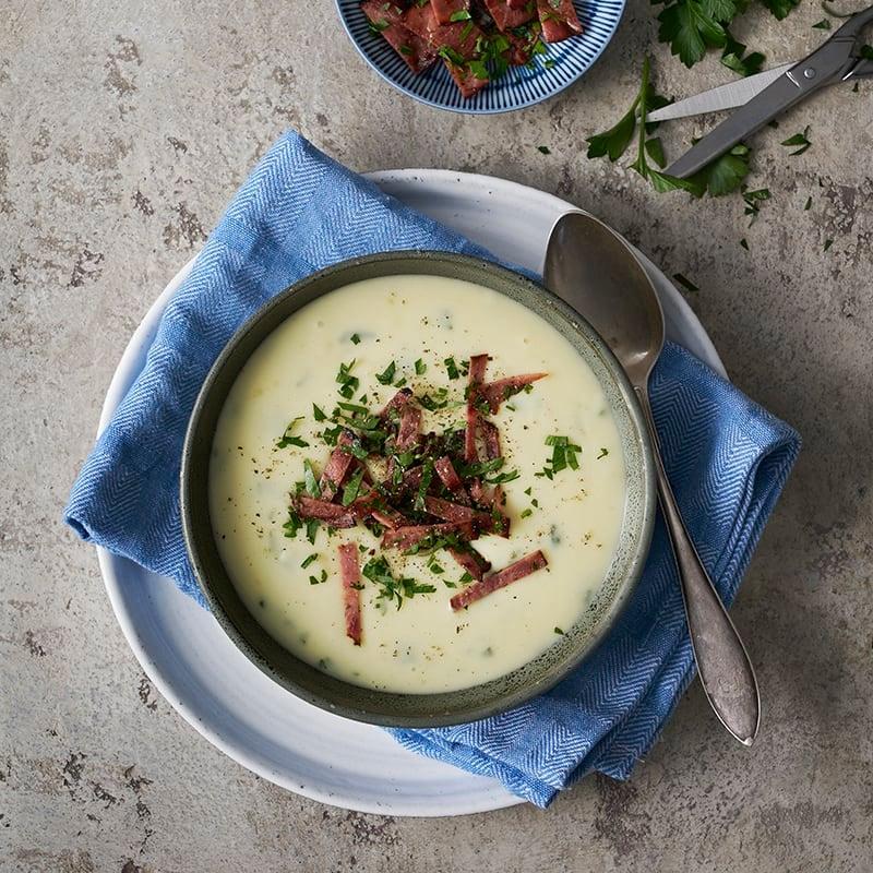 Foto av Krämig potatissoppa med kalkonbacon från WW ViktVäktarna