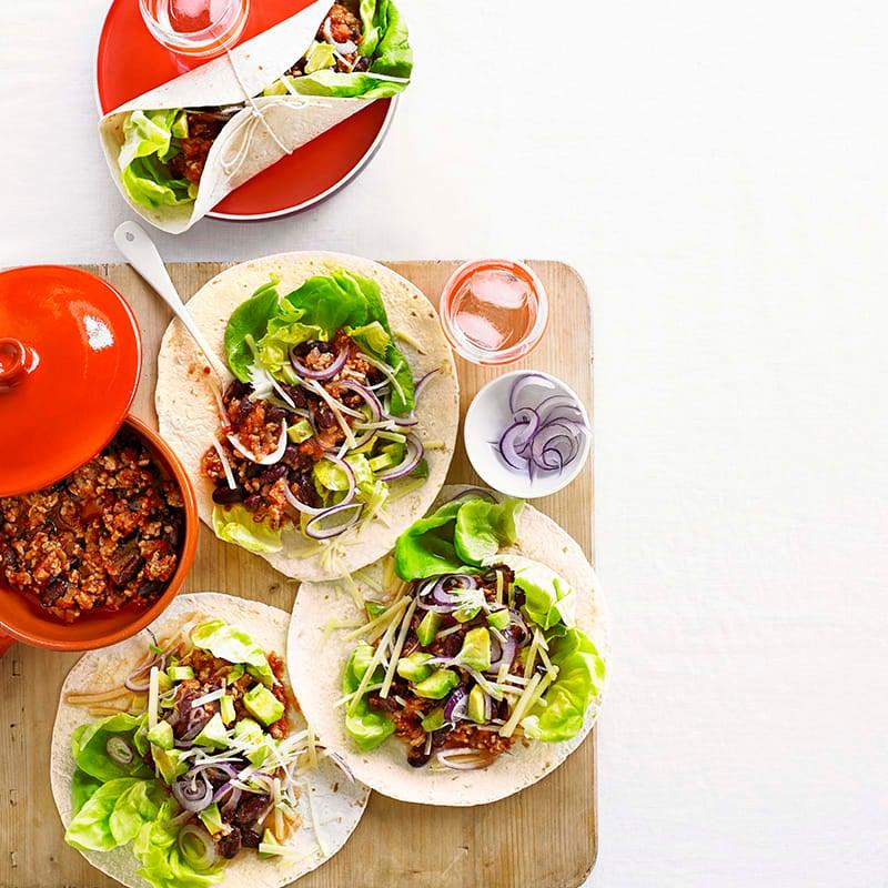 Foto av Burritos med bönor och färs från WW ViktVäktarna