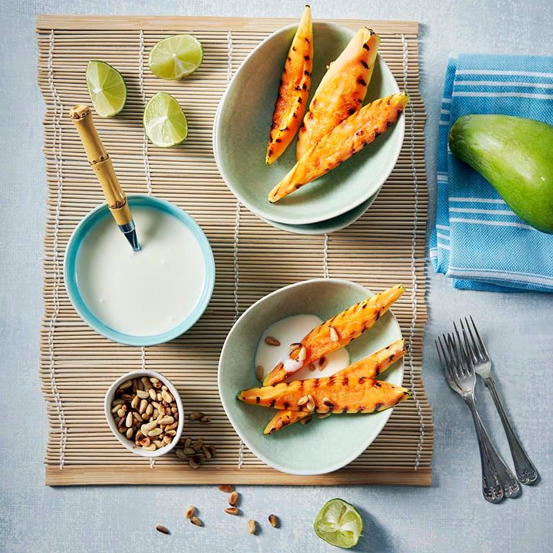 Foto av Grillad papaya med limekolasås från WW ViktVäktarna