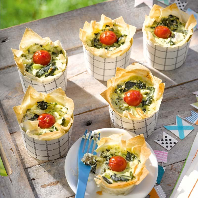 Foto av Minipajer med mangold och tomat från WW ViktVäktarna