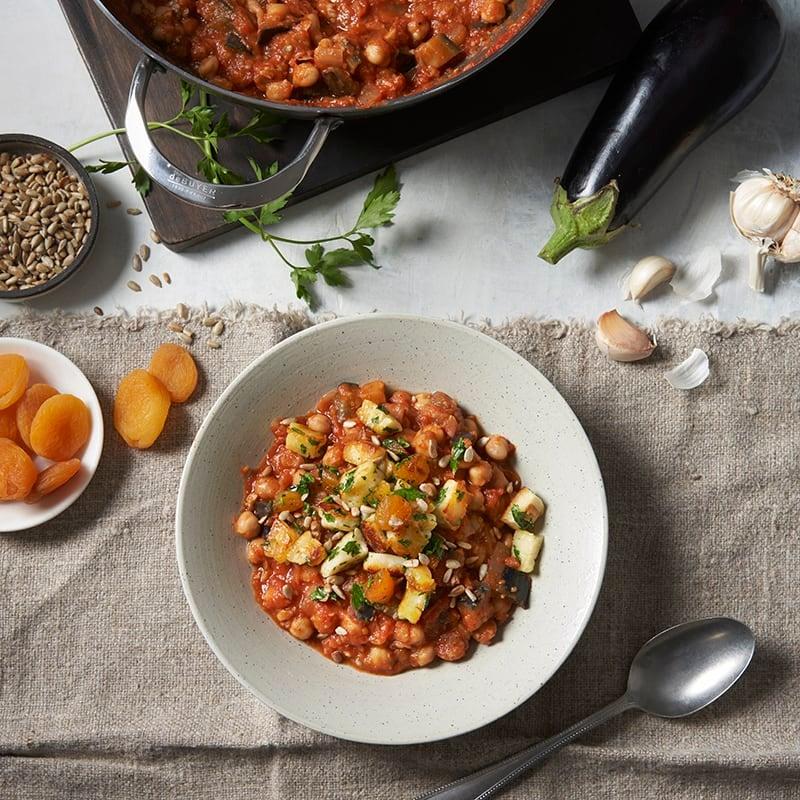 Foto av Hotpot med tomat, aubergine och halloumitopping från WW ViktVäktarna