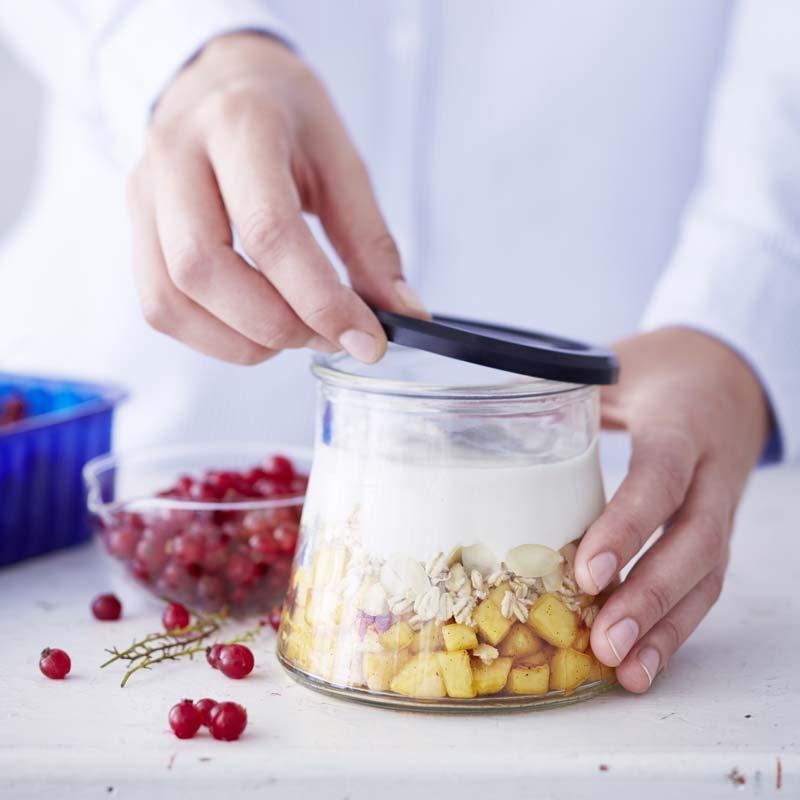 Foto av Overnight oats med persika och vanilj från WW ViktVäktarna