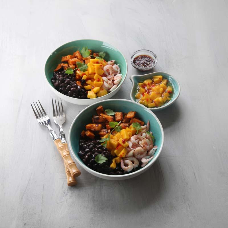 Foto av Asiatisk bowl med räkor, bönor och limesyrad mango från WW ViktVäktarna